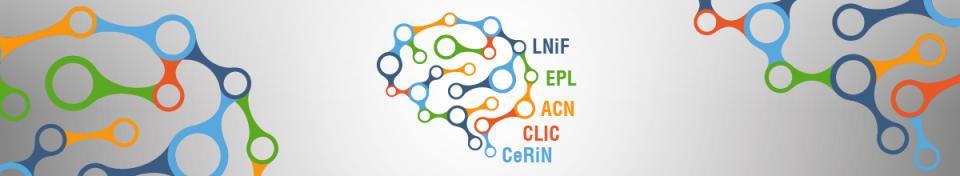 immagine stilizzata di un cervello con elenco laboratori